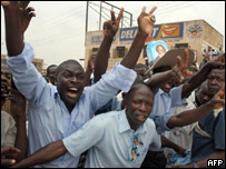 Kizza Besigye supporters in Kampala