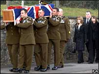 Funeral of Cpl Pritchard