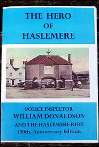 Front cover of Hero of Haslemere booklet