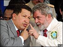 Chávez y Lula
