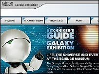 Science Museum's Hitchhiker's Guide to the Galaxy website