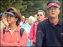 Michelle's parents, Bo and BJ Wie