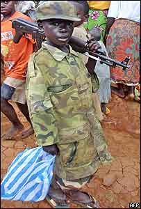 A child soldier in DR Congo