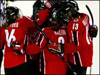 The victorious Canadian women's team
