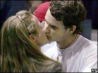 Andy Murray with girlfriend Kim Sears