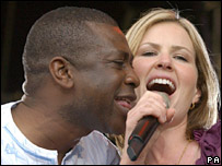 Youssou N'Dour and Dido at the Live 8 concert