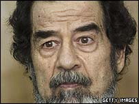 Picture released of former Iraqi President Saddam Hussein