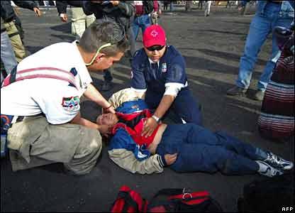 Collapsed relative of miner at San Juan de Sabinas