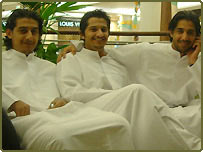 Young men in a mall in Dubai