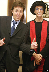 Sir Paul McCartney and Robin Gibb