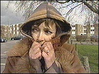 Kay Parncutt in her hooded top