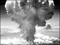 Ядерный гриб над Нагасаки. 9 августа 1945 года