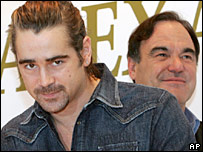 Colin Farrell and Oliver Stone