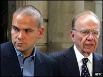 Lachlan Murdoch and Rupert Murdoch