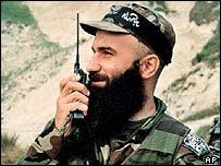 Shamil Basayev in 1999. File photo