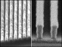 29.9 nanometre-wide lines etched on a circuit compared to 90 nanometre-wide lines (IBM)
