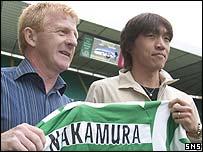 Gordon Strachan welcomes Shunsuke Nakamura to Celtic