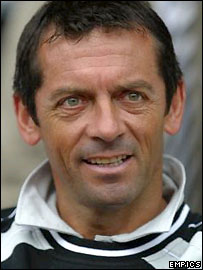 Derby manager Phil Brown