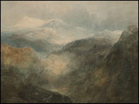 Turner, Scene in the Welsh Mountains (c) Tate, London 2005
