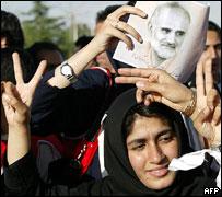 انصار مرشح الإصلاحيين إلى الانتخابات الرئاسية لعام 2005 مصطفى معين