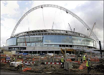 Construction work continues in and around Wembley stadium