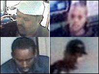 Los cuatro sospechosos de los atentados del 21 de julio