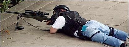 Policía británico.