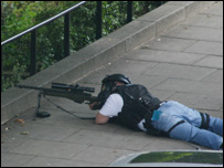 Police sniper in Notting Hill