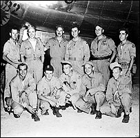 Enola Gay crew, Dutch Van Kirk is top row, second from left: Photo courtesy Smithsonian Institution)