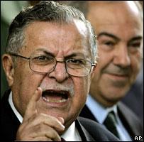 Jalal Talabani (L) and Iyad Allawi (R)