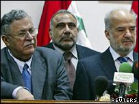 Jalal Talabani, Adel Abdel Mahdi and Ibrahim Jaafari