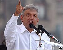 Andrés Manuel López Obrador, ex alcalde de México.