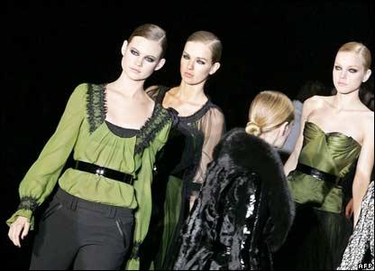 La Perla models in Milan