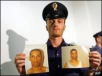 La policía italiana divulgó las fotos de Hussain.