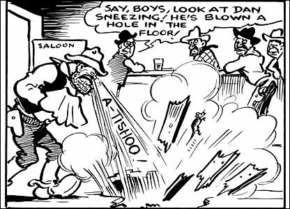 Desperate Dan comic from Dandy, copyright DC Thomson and Company Ltd