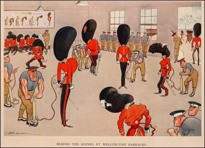 Wellington Barracks cartoon by HM Bateman, copyright HM Bateman Estate