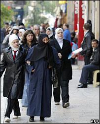 Syrian women in Damascus