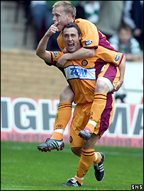 McDonald celebrates pulling Motherwell level