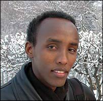 Somali student Mukhtar Ahmed Osman in Moscow