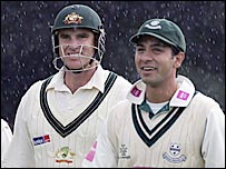 Australia opener Matthew Hayden (left) and Worcestershire skipper Vikram Solanki