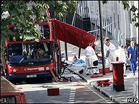 Tavistock Square bus bomb scene