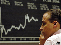 Trader on the Frankfurt stock exchange