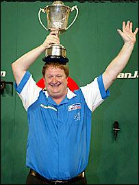 Colin Lloyd celebrates victory