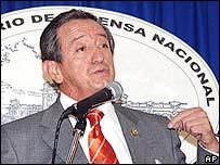 Ecuador's Defence Minister Oswaldo Jarrin