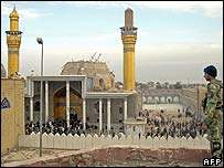 The bombed al-Askari shrine in Samarra