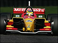 Sebastien Bourdais in action for Newman Haas