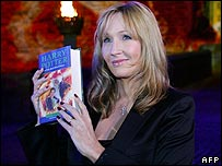 JK Rowling launching Harry Potter and the Half-Blood Prince