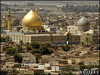 The two domes of the Imam al-Hadi compound before the attack