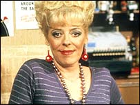 Actress Julie Goodyear as Bet Lynch in Coronation Street