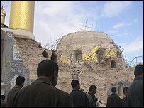 Damaged dome in Samarra